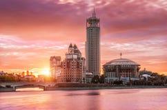 Feuille rose de soirée de Moscou Images stock