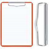 feuille rouge de papier de planchette Photos libres de droits