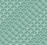 Feuille semi-circulaire japonaise Art Seamless Pattern illustration stock