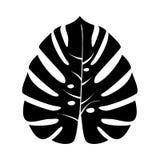 Feuille tropicale c'est icône noire Photo libre de droits