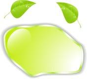 Feuille verte avec l'espace pour le texte.  Images libres de droits