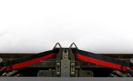 Feuille vide dans la machine à écrire de style ancien Photos stock