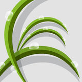 Feuilles abstraites d'herbe verte de vecteur Photos libres de droits
