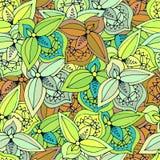 Feuilles abstraites de fond sans couture de différentes couleurs illustration libre de droits