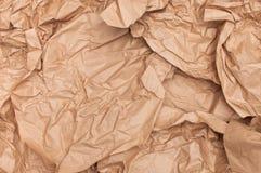 Feuilles chiffonnées par texture de papier d'emballage de fond Photos libres de droits