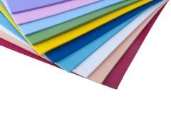 Feuilles colorées de plastique Images stock