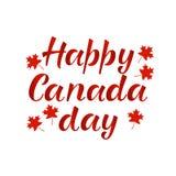 Feuilles d'érable rouge réalistes de JOUR HEUREUX de CANADA Photographie stock libre de droits