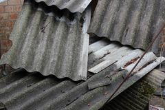 Feuilles d'ardoise pour le toit Photo libre de droits