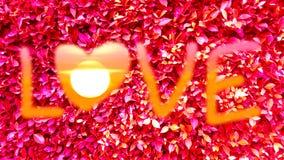 feuilles d'aspiration et de rouge d'art des textes d'amour Photographie stock libre de droits