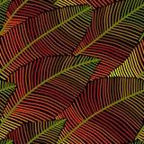Feuilles d'automne sans couture de modèle de vecteur Images libres de droits