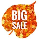 Feuilles d'Autumn Sales Banner With Colorful ENV 10 illustration libre de droits
