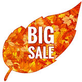 Feuilles d'Autumn Sales Banner With Colorful ENV 10 Photo stock