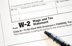 Feuilles d'impôt des USA Image libre de droits