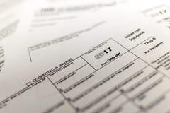Feuilles d'impôt de classement Photos libres de droits