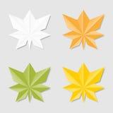 Feuilles dans le style d'origami Photographie stock