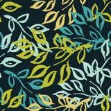 Feuilles de Chinois Fond sans couture avec les feuilles décoratives Modèle avec des usines Photo stock