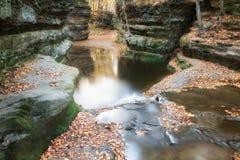 Feuilles de chute au nid de vanneaux, Baraboo, le Wisconsin, Etats-Unis photos libres de droits