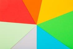 Feuilles de couleur de papier Photographie stock