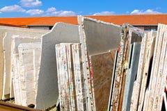 Feuilles de marbre Photo libre de droits