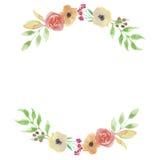 Feuilles de mariage de guirlande de feuille de Garland Summer Spring Peach Arch d'aquarelle Photo stock