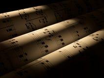 Feuilles de musique Images stock