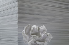 feuilles de papier Photos libres de droits