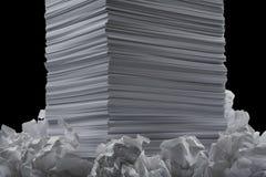 feuilles de papier Photo stock