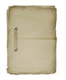 Feuilles de papier attachées avec une bande Photographie stock libre de droits