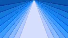 Feuilles de papier avec le gradient bleu, idée pour la bannière Les couches de papier sous forme de rayons divergents pour la car Illustration de Vecteur