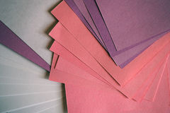 feuilles de papier colorées image libre de droits