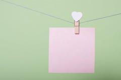 Feuilles de papier dans le fil Image libre de droits