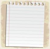 Feuilles de papier, papier rayé et papier de note Photo libre de droits