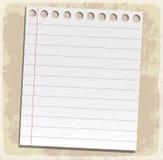 Feuilles de papier, papier rayé et papier de note Photographie stock libre de droits
