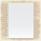 Feuilles de papier, papier rayé et papier de note Photographie stock