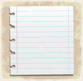 Feuilles de papier, papier rayé et papier de note Images libres de droits
