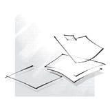 Feuilles de papier vides, graphisme, retrait de dessin à main levée Illustration Stock