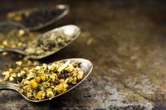 Feuilles de thé rustiques Image stock
