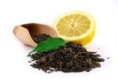 Feuilles de thé vertes Photographie stock
