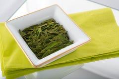 Feuilles de thé vertes lâches Photo libre de droits