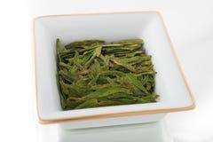 Feuilles de thé vertes lâches Image libre de droits