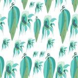 Feuilles de vecteur et tournesols, vert, turquoise, fond blanc vert clair, bleu vert, simple illustration de vecteur