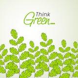 Feuilles de vert pour la nature d'économies Images stock