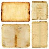 Feuilles de vieux papier de cru grunge Image libre de droits