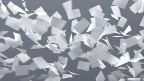 Feuilles de vol de papier Photos libres de droits
