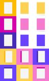 Feuilles et en-tête de lettre Placez dans le style matériel Illustration Stock