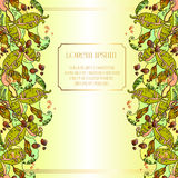 Feuilles et fruit de haricots Design de carte floral abstrait d'été Illustration Libre de Droits