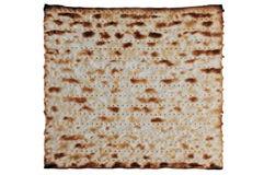 Feuilles juives traditionnelles de Matzo, d'isolement Photographie stock
