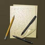 Feuilles multiples de livre blanc Photos libres de droits