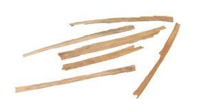 Feuilles sèches de maïs, flèche ; indicateur ; direction ; bande ; presse de bâton Photos stock