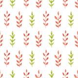 Feuilles sans couture de vert d'aquarelle illustration libre de droits
